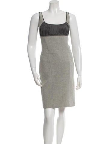 Narciso Rodriguez Wool Sleeveless Dress None