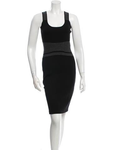 Narciso Rodriguez Wool Knit Fitted Dress None