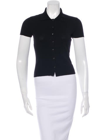 Narciso Rodriguez Wool Collared Top None