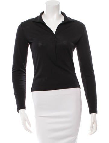 Narciso Rodriguez Wool & Silk-Blend Top None