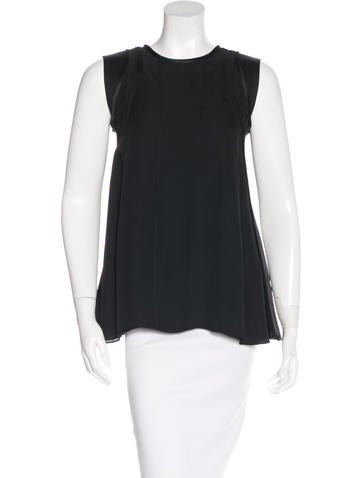 Narciso Rodriguez Sleeveless Silk Top w/ Tags None