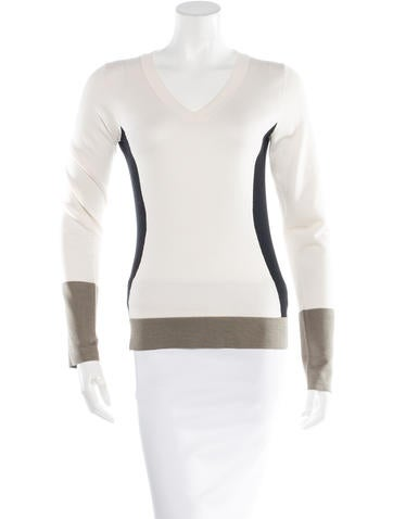 Narciso Rodriguez Wool Colorblock Sweater None