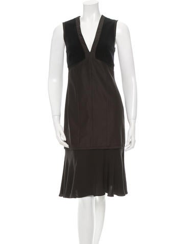Narciso Rodriguez Wool & Silk-Blend Midi Dress None