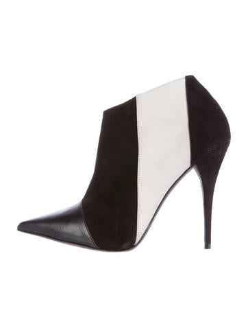 Narciso Rodriguez Pointed Colorblock Booties None