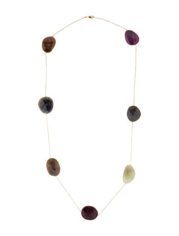 14K Ruby and Sapphire Necklace