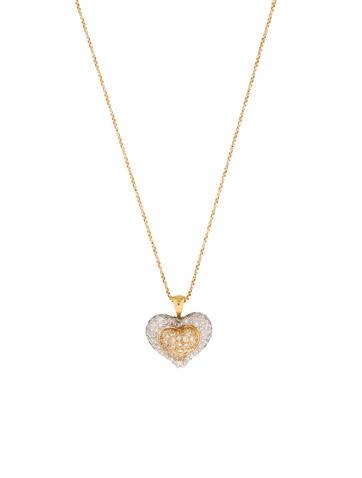 Necklace Pavé Diamond Heart Necklace None