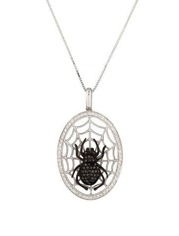 Diamond Spider Necklace None