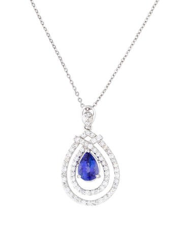 14K Tanzanite and Diamond Pendant Necklace