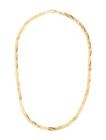 14K Twist Chain Necklace
