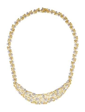 18K Two Tone Diamond Necklace