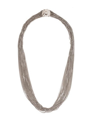 18K Multistrand Curb Chain Necklace