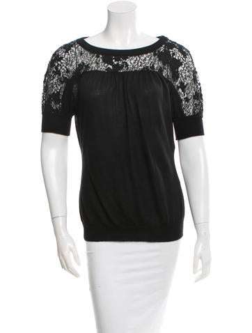 Nina Ricci Sequin-Embellished Cashmere Top w/ Tags None