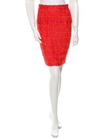Nina Ricci Patterned Pencil Skirt None