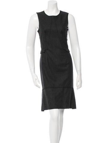 Nina Ricci Lace-Embellished Wool Dress w/ Tags None