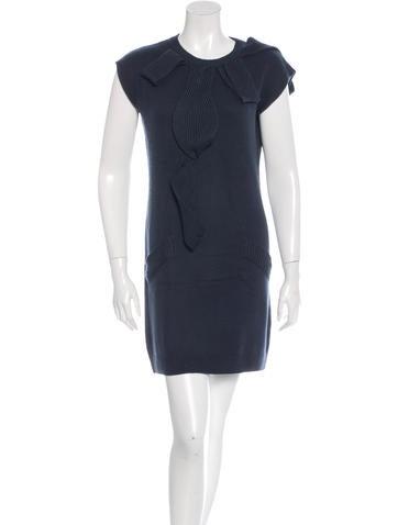 Nina Ricci Wool Shift Dress None