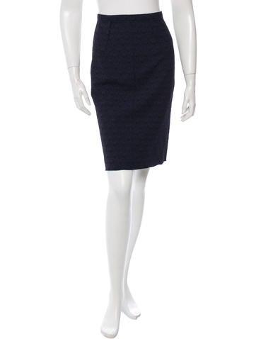 Nina Ricci Textured Pencil Skirt w/ Tags None