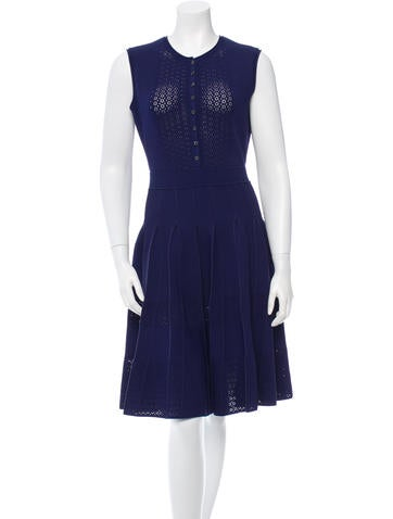 Oscar de la Renta Knit Pleated Dress