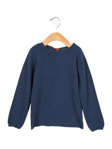 Oscar de la Renta Girls' Crew Neck Cashmere Sweater None