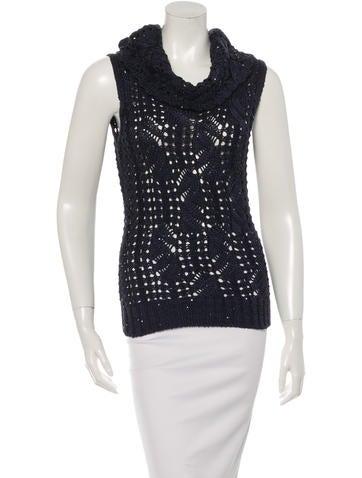 Oscar de la Renta Embellished Knit Top None