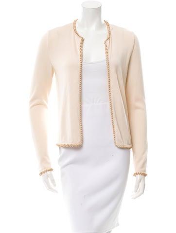 Oscar de la Renta Embellished Cashmere & Silk-Blend Cardigan None