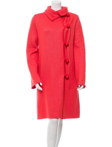 Oscar de la Renta Cashmere Button-Up Cardigan w/ Tags None