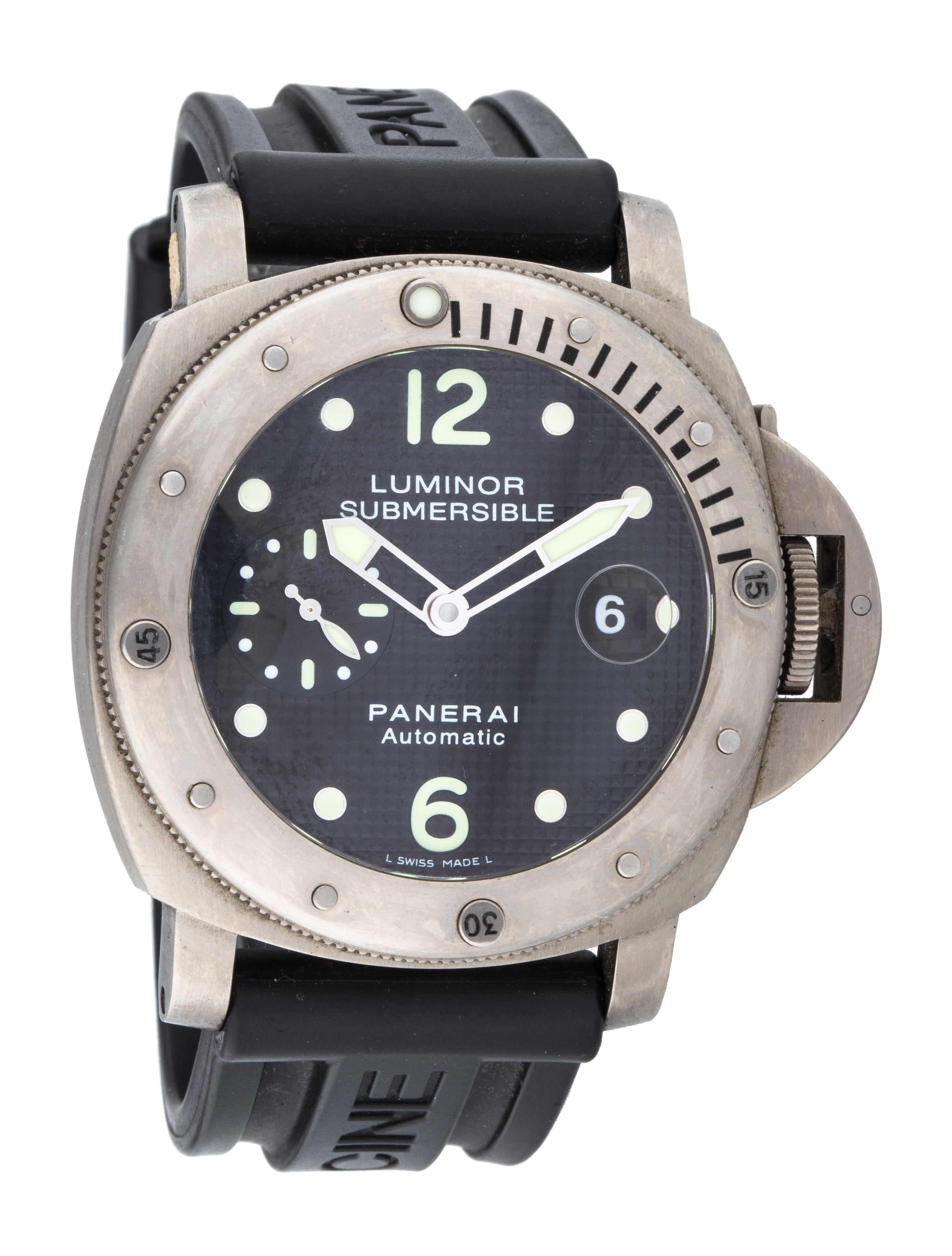Panerai automatic divers professional watch strap - Panerai dive watch ...