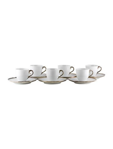 Puiforcat for Hermès Cercle d'Argent Coffee Cups and Saucers None