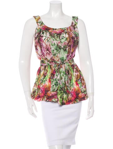 Piazza Sempione Sleeveless Floral Top None