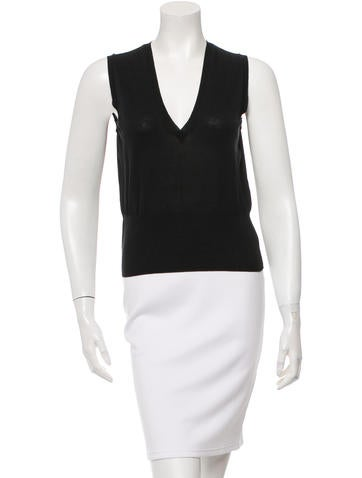 Piazza Sempione Sleeveless V-Neck Top None