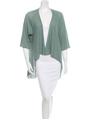 Piazza Sempione Draped Knit Cardigan None