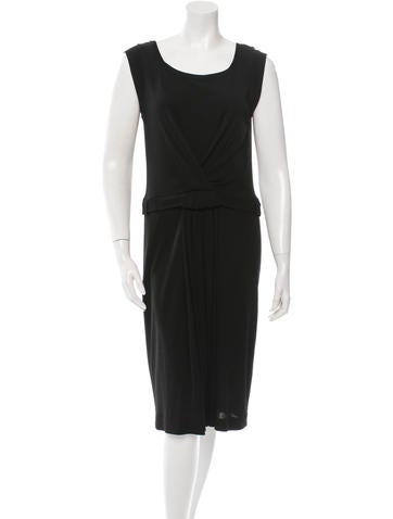 Piazza Sempione Sleeveless Ruched Dress None