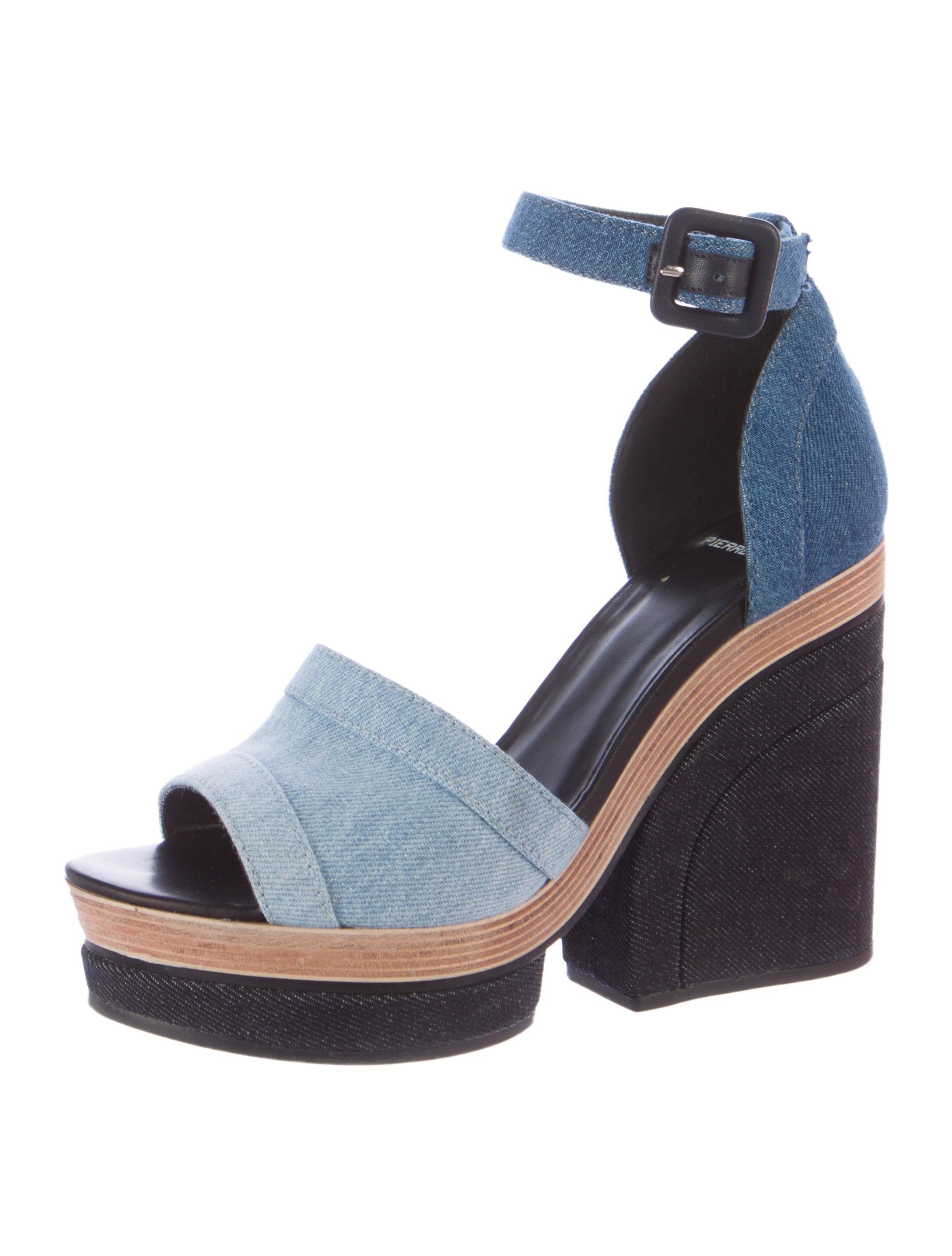 hardy denim platform sandals shoes pie22322
