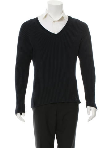 Prada Knit V-Neck Sweater None