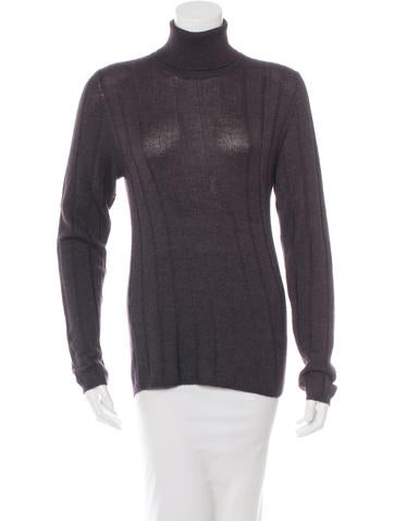 Prada Cashmere Silk Turtleneck Sweater None