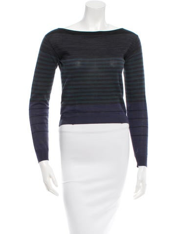 Prada Striped Long Sleeve Sweater None