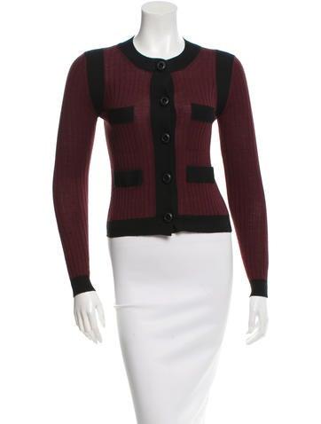 Prada Wool Colorblock Cardigan None