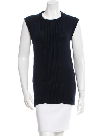 Prada Sleeveless Wool Sweater None