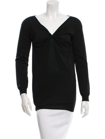 Prada Knit Long Sleeve Sweater None