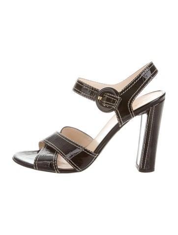 Prada Patent Leather Sandals None