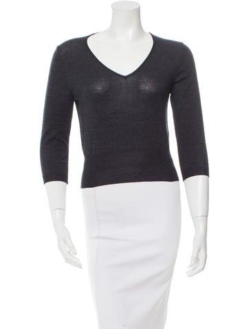 Prada Long Sleeve Wool Top None