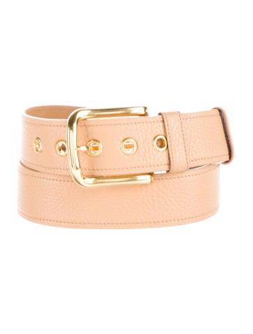 Prada Grained Leather Belt None