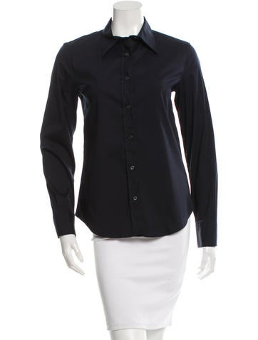 Prada Tailored Button-Up Top None