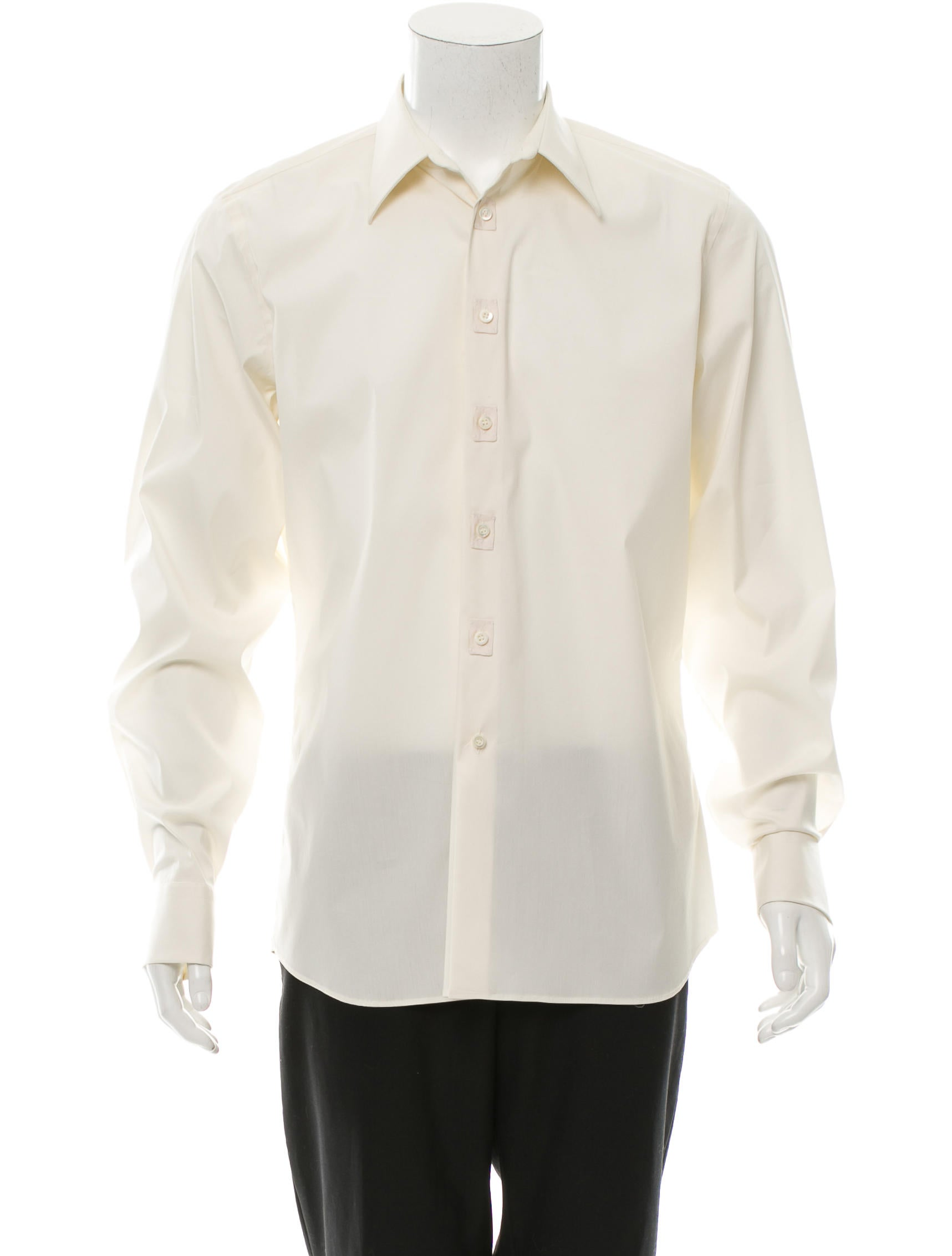 prada embroidered button up shirt clothing pra111506