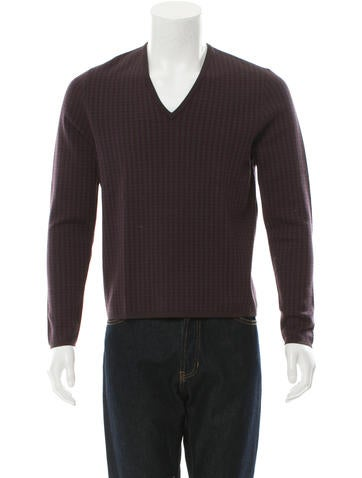 Prada Patterned Wool Sweater None