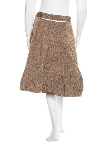 prada leopard print a line skirt clothing pra113898