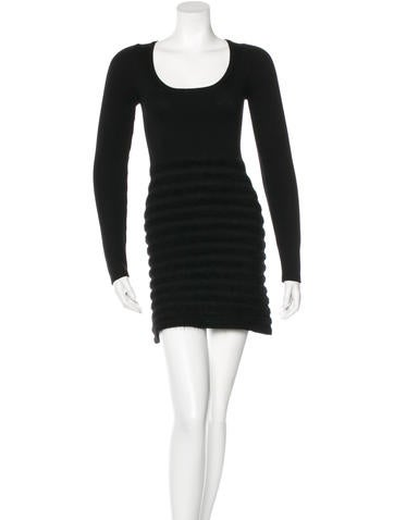 Prada Wool Long Sleeve Dress None