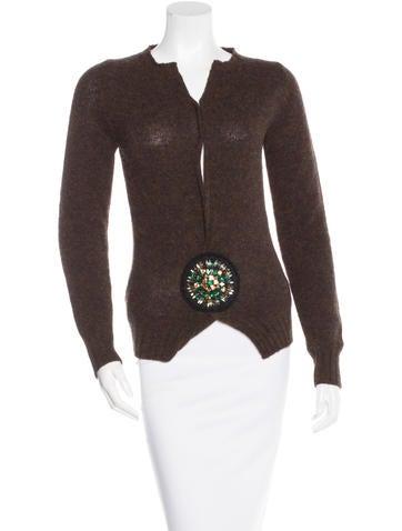 Prada Wool Embellished Sweater None