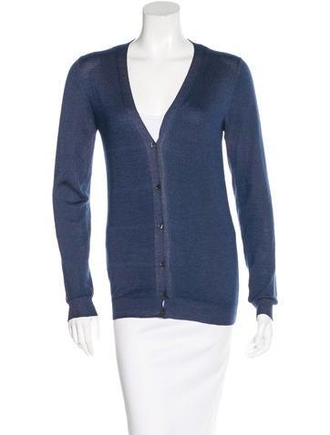 Prada Wool & Silk-Blend Cardigan None