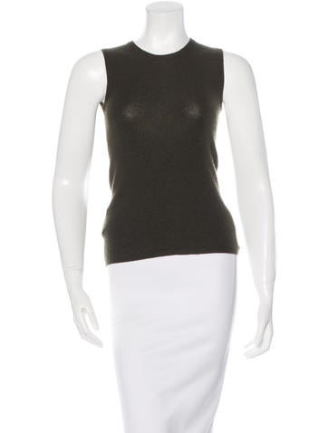 Prada Cashmere & Silk-Blend Sleeveless Top None