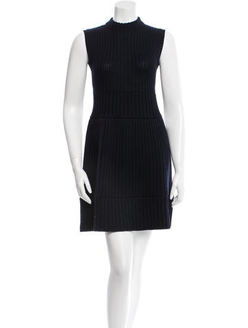 Prada Wool Cable Knit Dress None